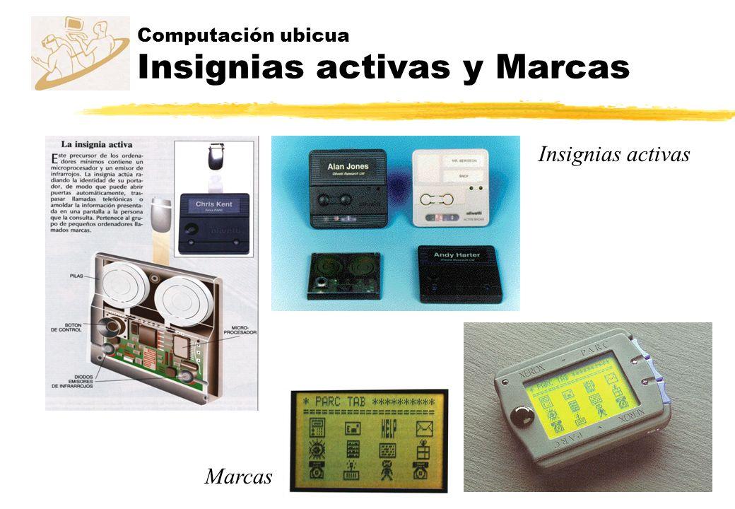 Computación ubicua Insignias activas y Marcas