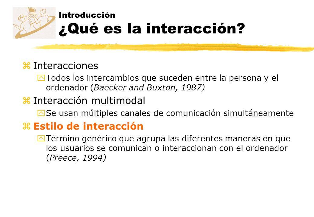 Introducción ¿Qué es la interacción