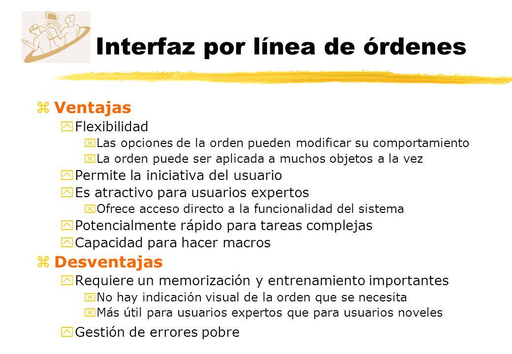 Interfaz por línea de órdenes