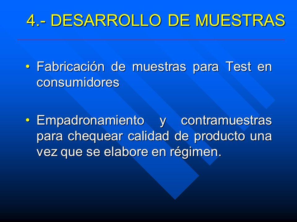 4.- DESARROLLO DE MUESTRAS