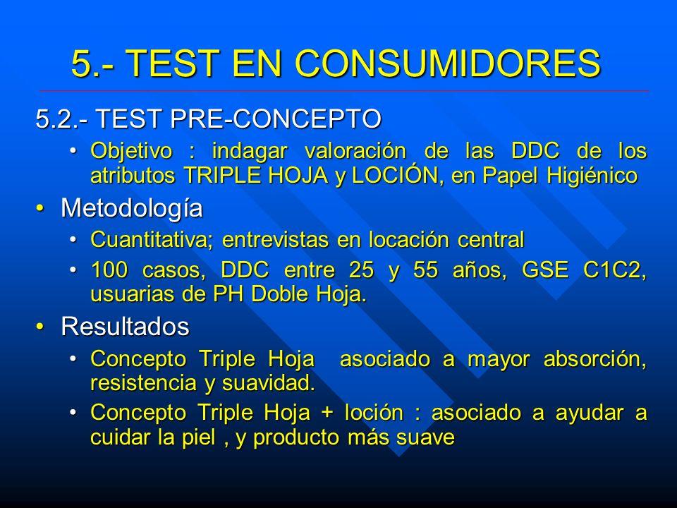 5.- TEST EN CONSUMIDORES 5.2.- TEST PRE-CONCEPTO Metodología