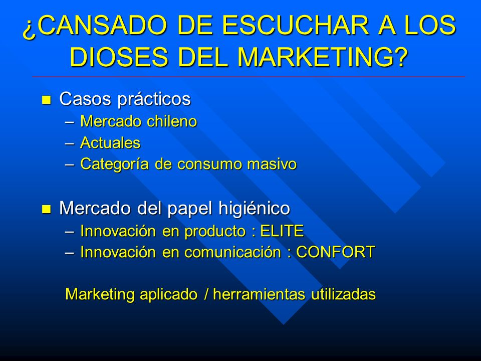 ¿CANSADO DE ESCUCHAR A LOS DIOSES DEL MARKETING