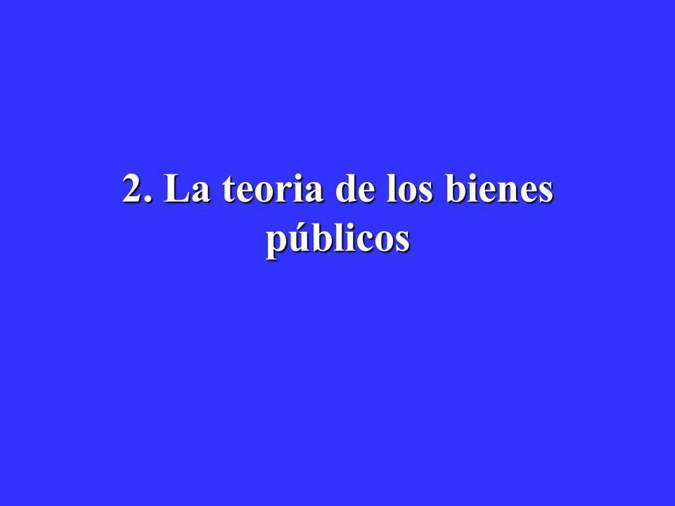 2. La teoria de los bienes públicos