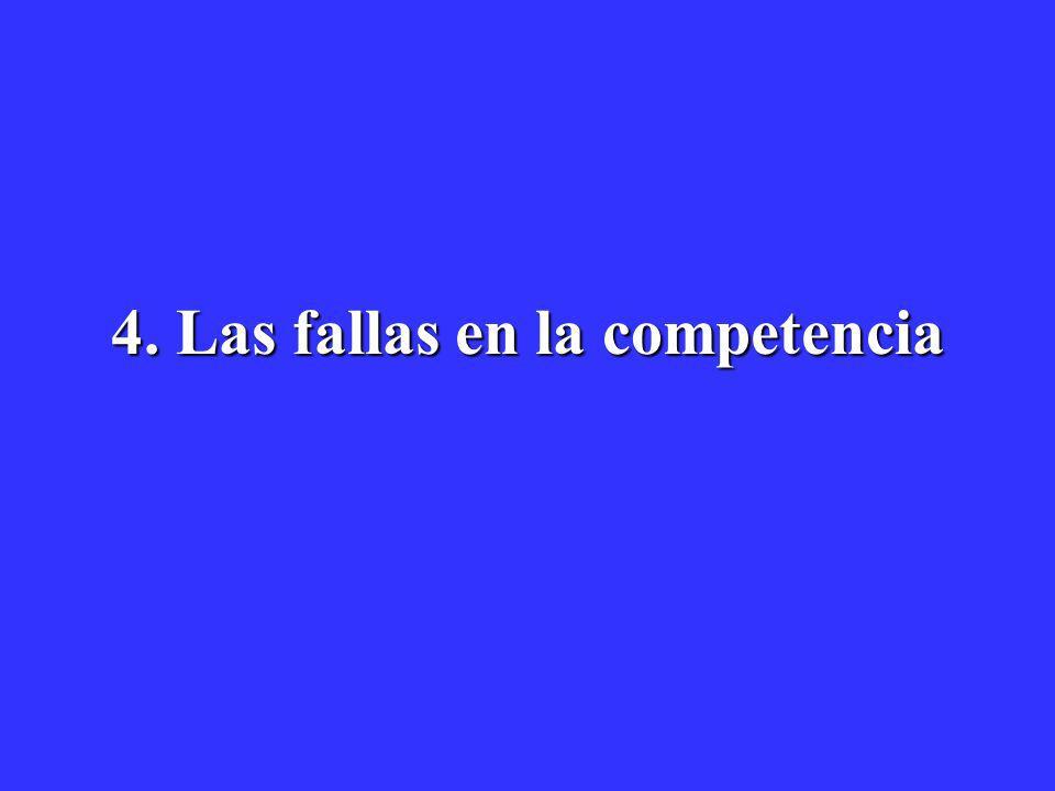 4. Las fallas en la competencia