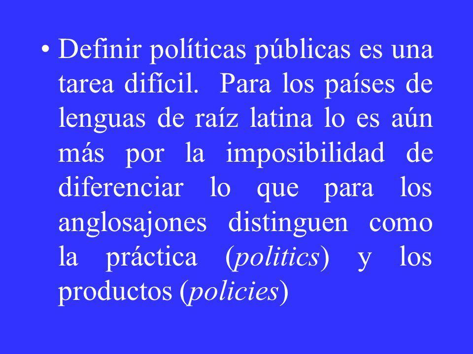 Definir políticas públicas es una tarea difícil