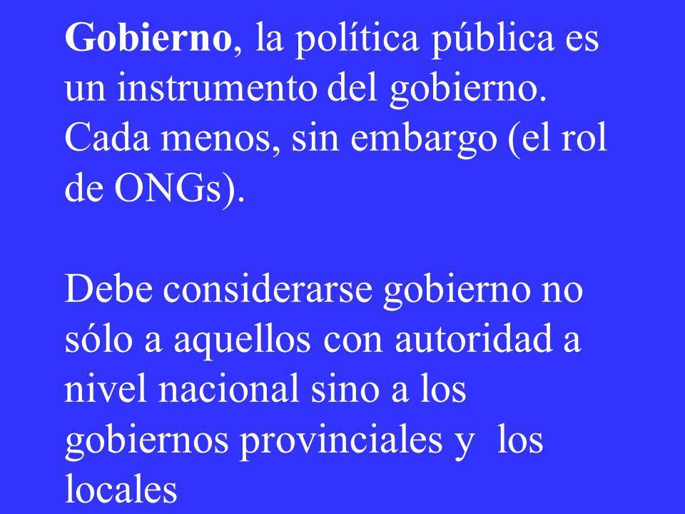 Gobierno, la política pública es un instrumento del gobierno