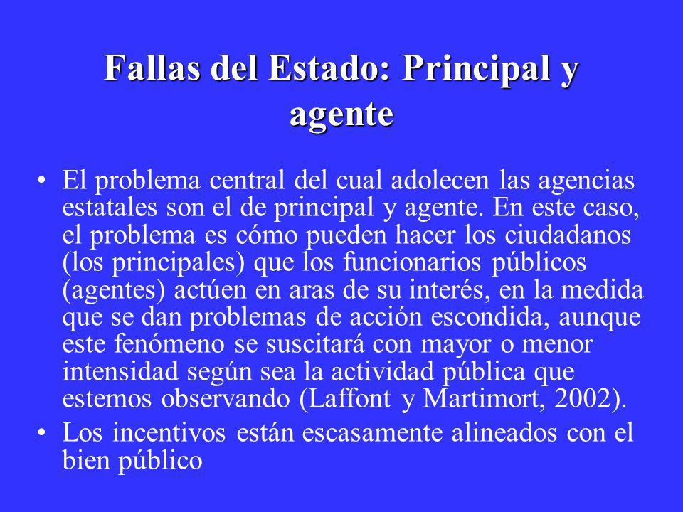 Fallas del Estado: Principal y agente