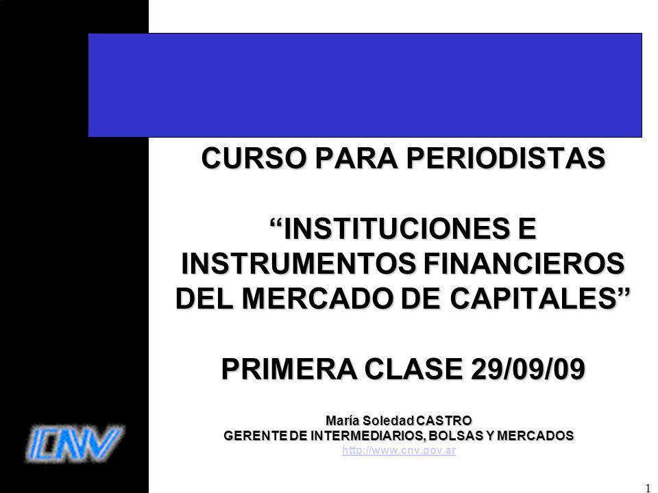 GERENTE DE INTERMEDIARIOS, BOLSAS Y MERCADOS