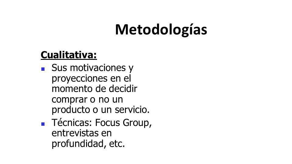 Metodologías Cualitativa: