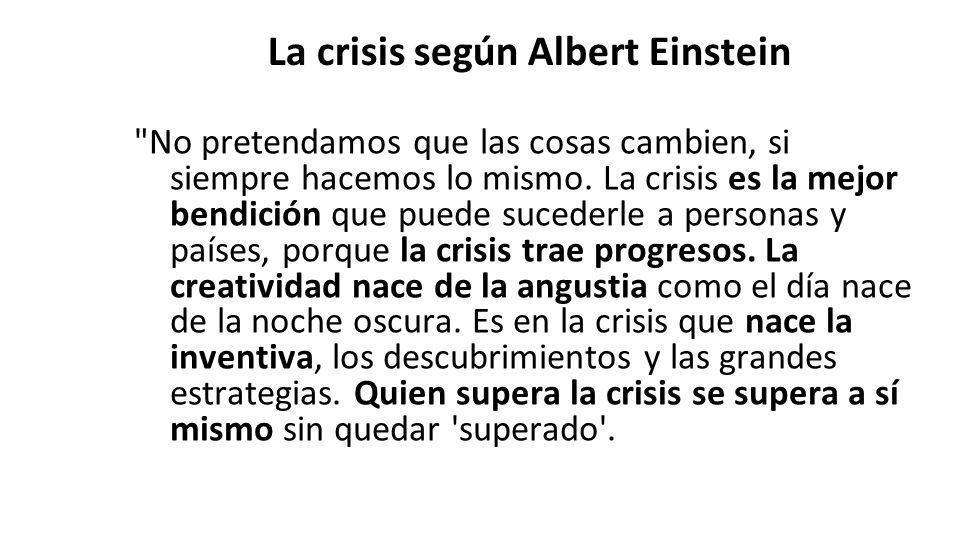La crisis según Albert Einstein