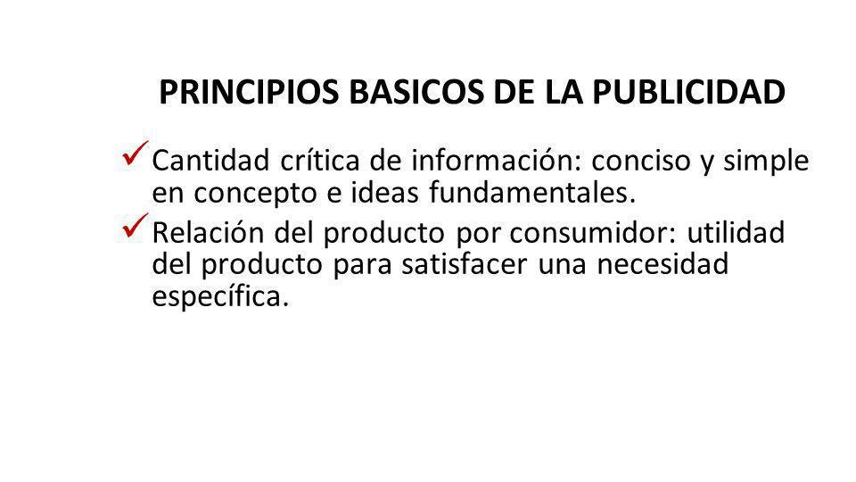 PRINCIPIOS BASICOS DE LA PUBLICIDAD