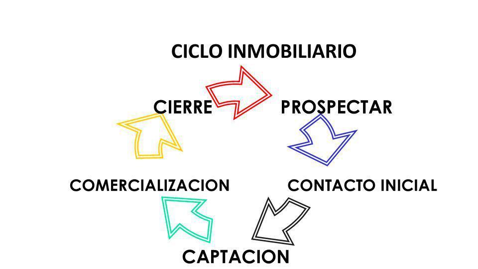 CICLO INMOBILIARIO Prospección: quienes son realmente tienen necesidad de nuestro servicio. Criterio de selección<. Fríos, tibios y calientes.