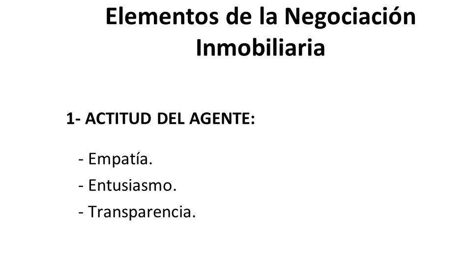 Elementos de la Negociación Inmobiliaria