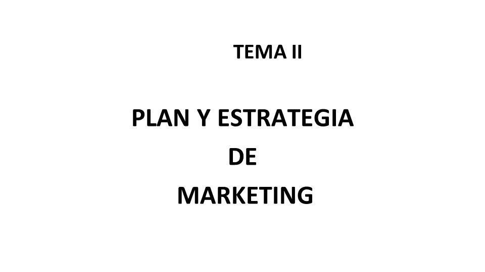 PLAN Y ESTRATEGIA DE MARKETING