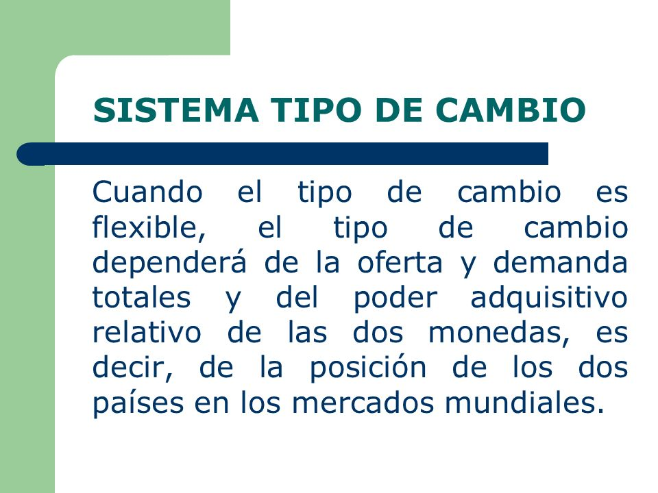 SISTEMA TIPO DE CAMBIO