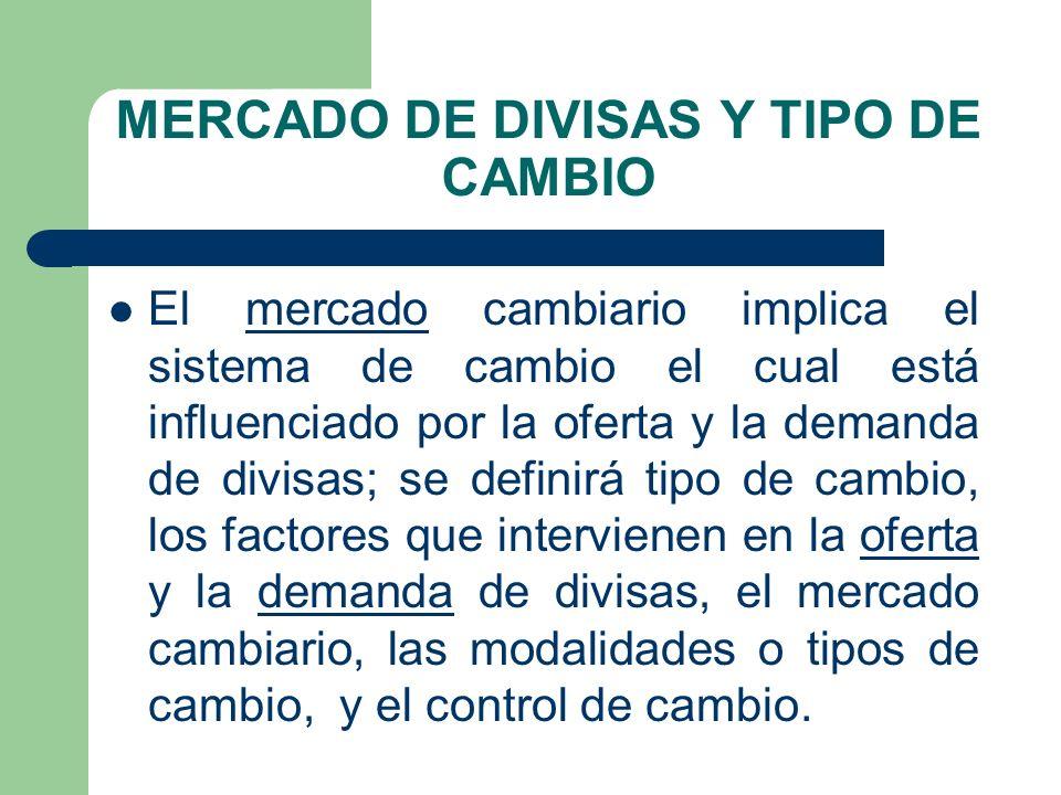 MERCADO DE DIVISAS Y TIPO DE CAMBIO