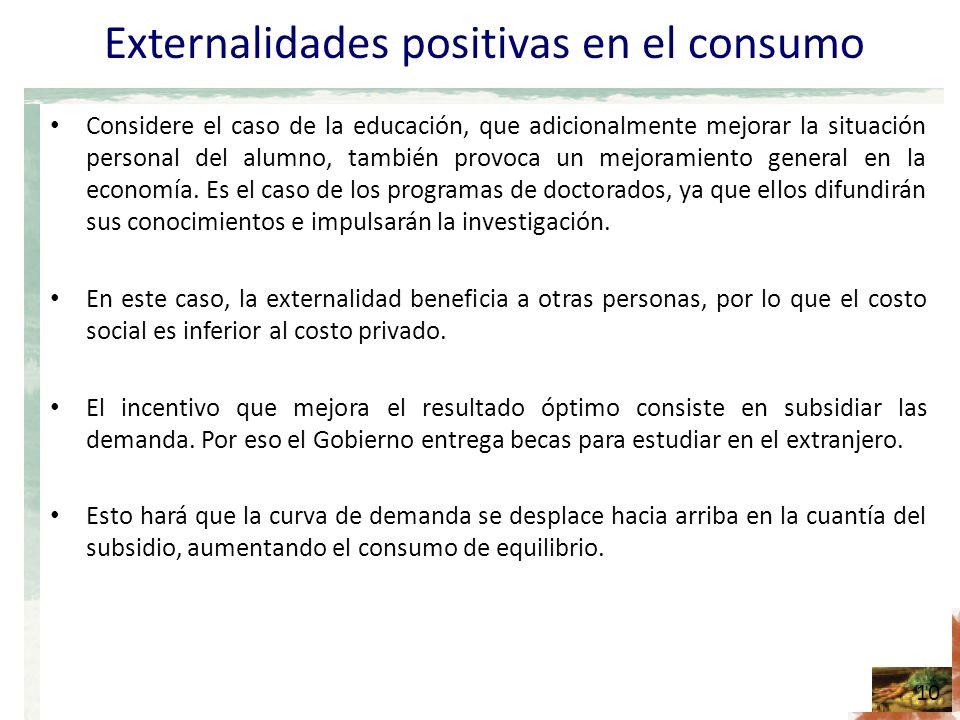 Externalidades positivas en el consumo