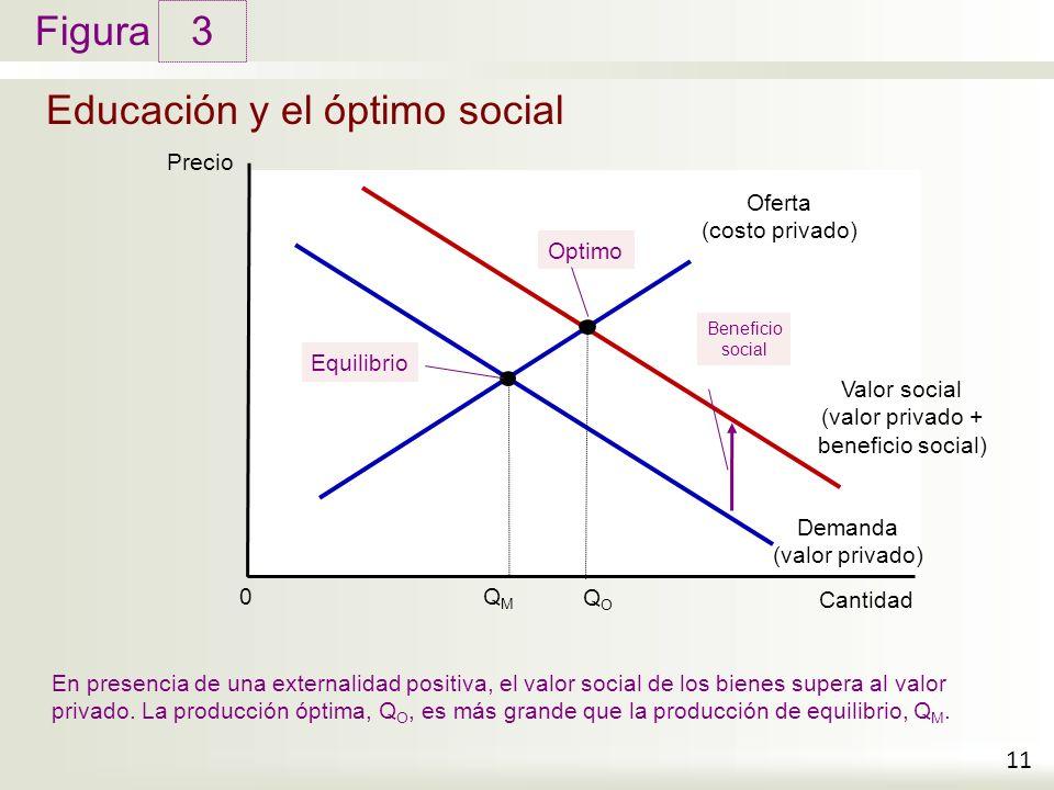 Educación y el óptimo social