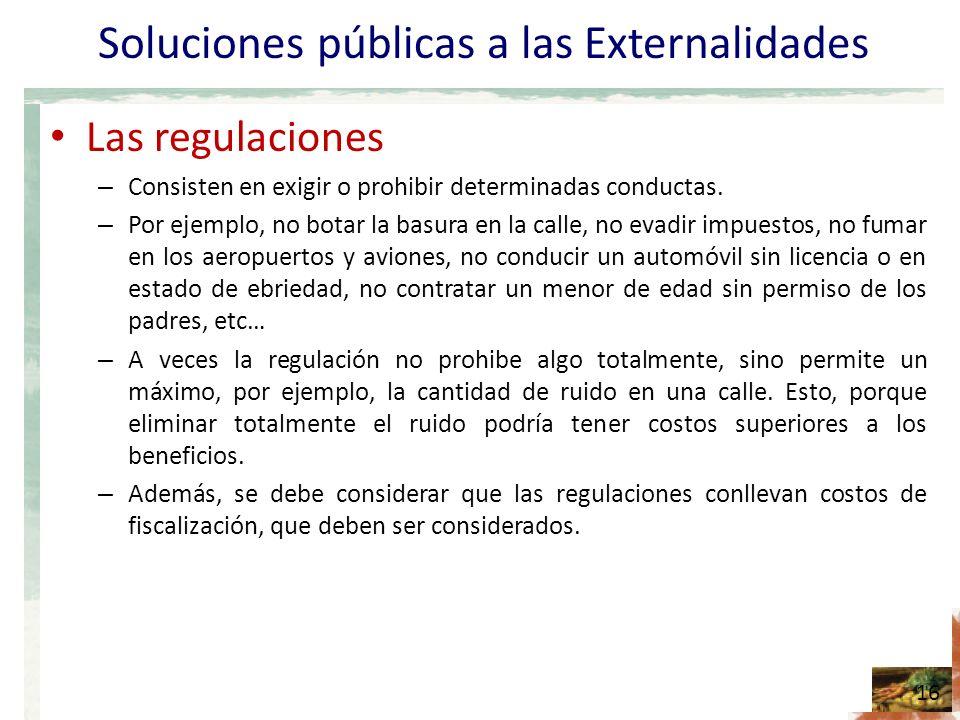 Soluciones públicas a las Externalidades
