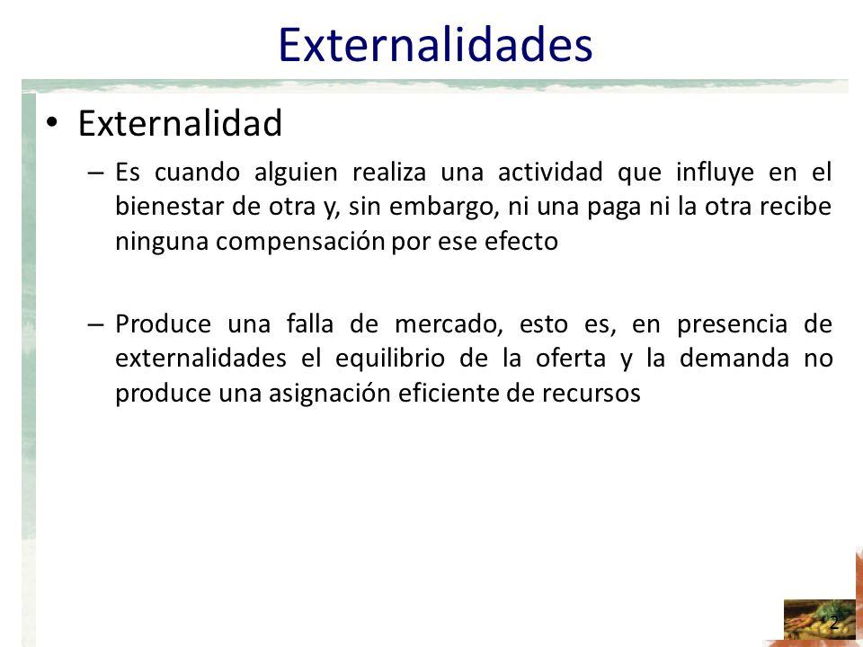 Externalidades Externalidad