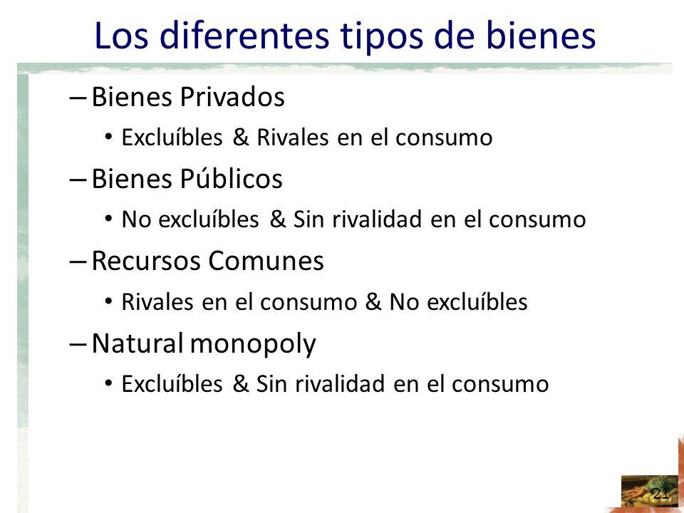 Los diferentes tipos de bienes