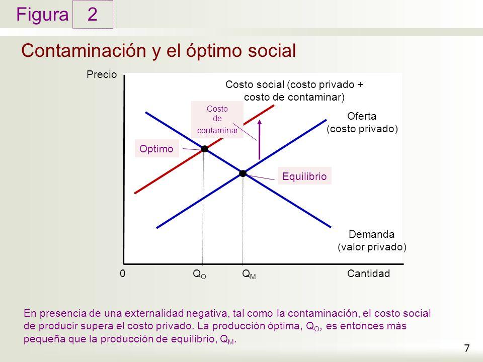 Contaminación y el óptimo social