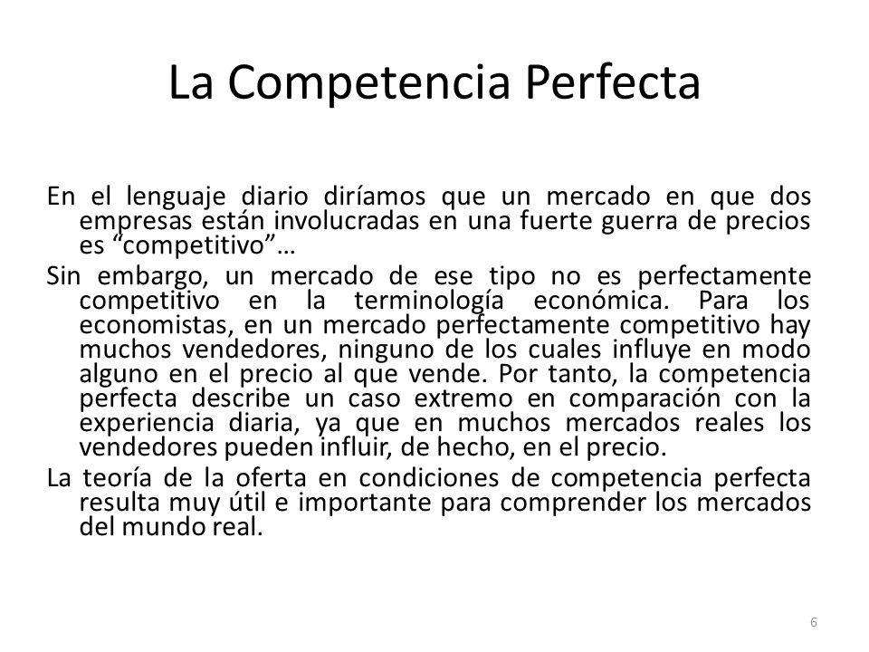 La Competencia Perfecta