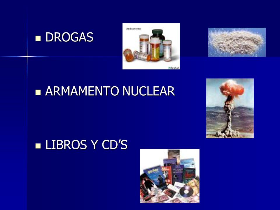 DROGAS ARMAMENTO NUCLEAR LIBROS Y CD'S