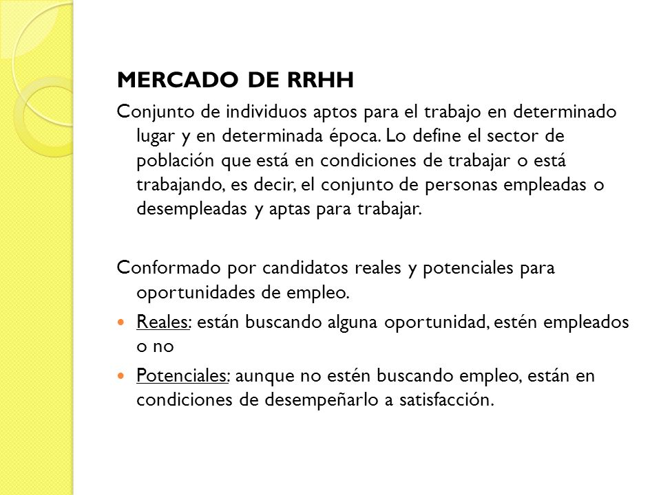 MERCADO DE RRHH