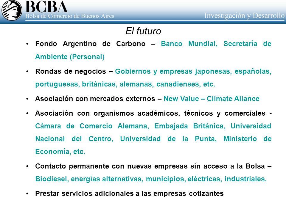 El futuro Fondo Argentino de Carbono – Banco Mundial, Secretaría de Ambiente (Personal)