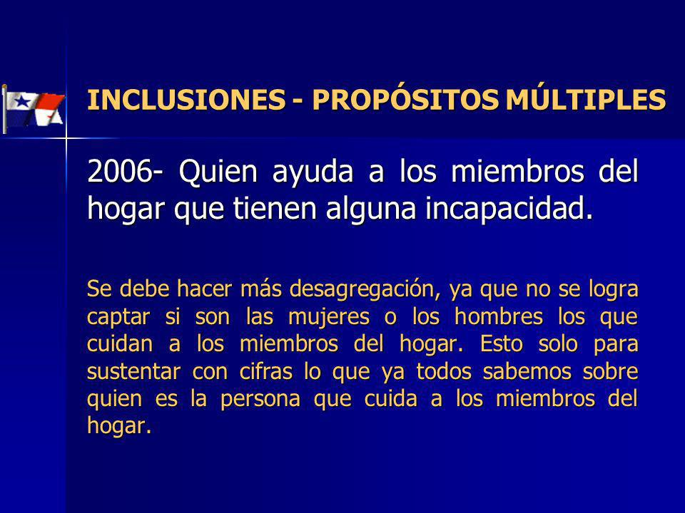 INCLUSIONES - PROPÓSITOS MÚLTIPLES