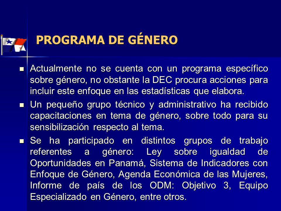 PROGRAMA DE GÉNERO