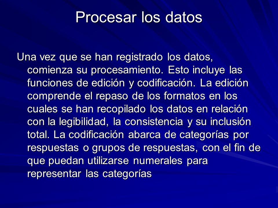 Procesar los datos