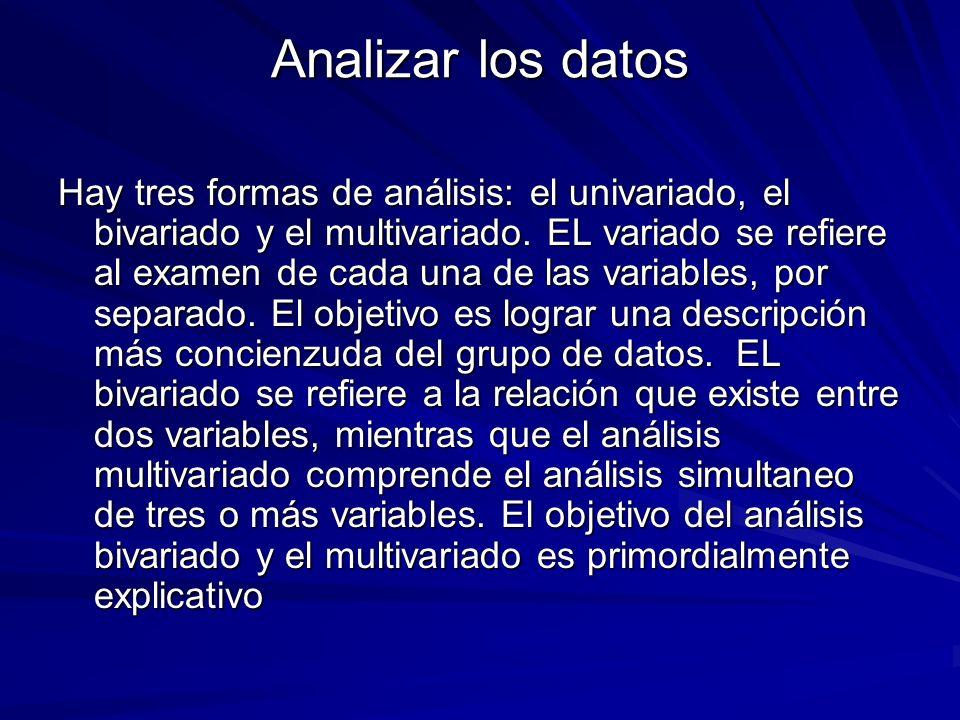 Analizar los datos