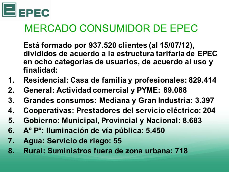 MERCADO CONSUMIDOR DE EPEC