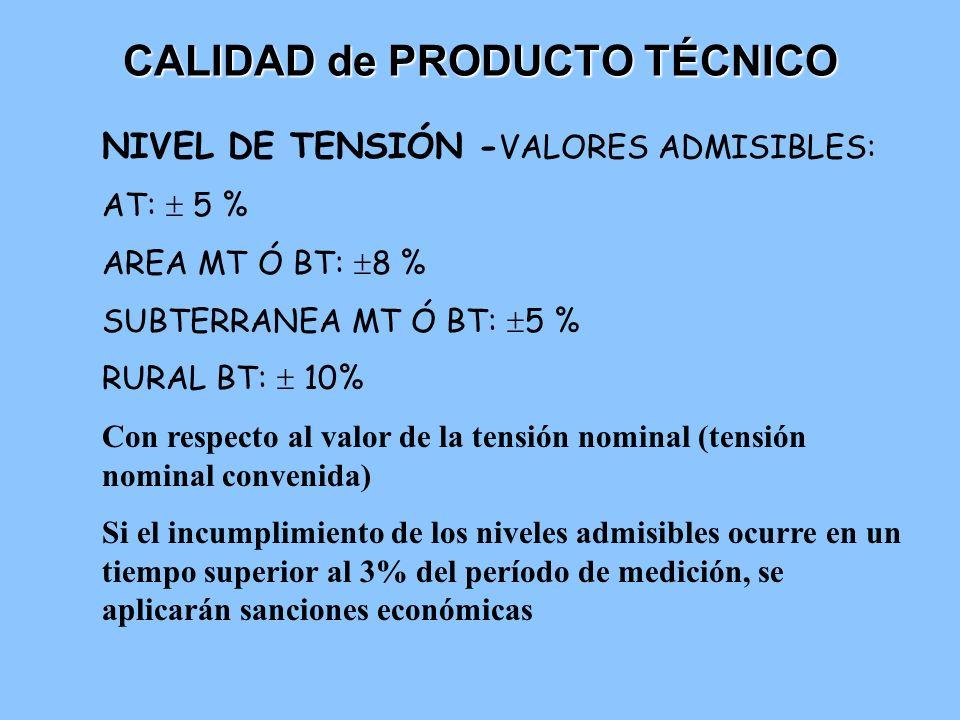 CALIDAD de PRODUCTO TÉCNICO