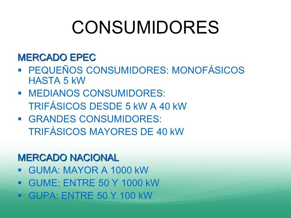 CONSUMIDORES MERCADO EPEC