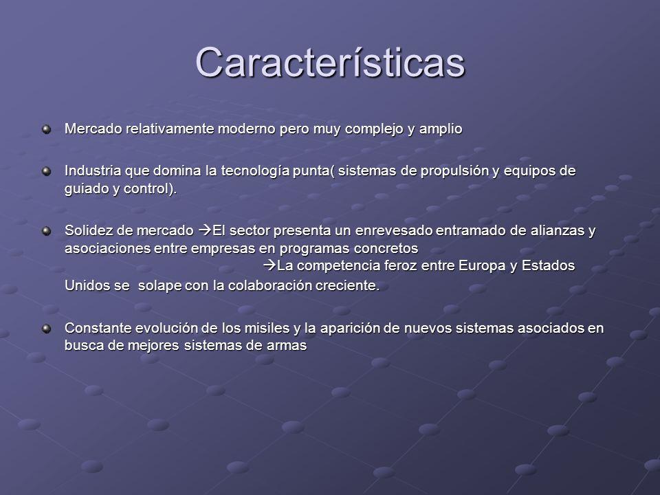 Características Mercado relativamente moderno pero muy complejo y amplio.