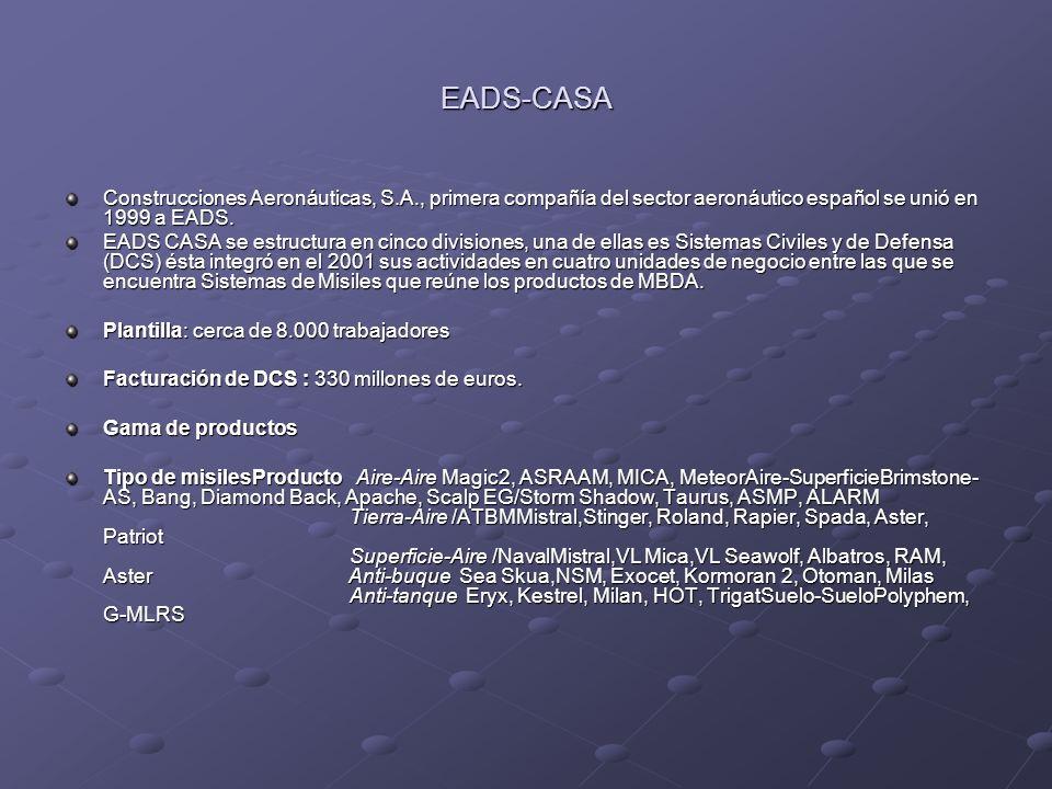EADS-CASA Construcciones Aeronáuticas, S.A., primera compañía del sector aeronáutico español se unió en 1999 a EADS.