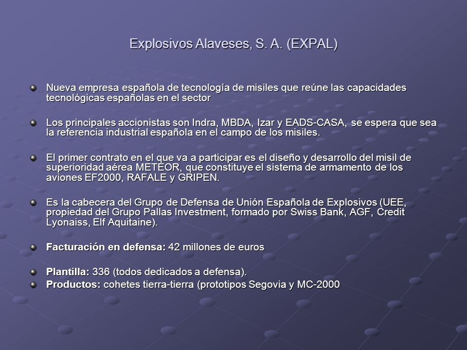 Explosivos Alaveses, S. A. (EXPAL)