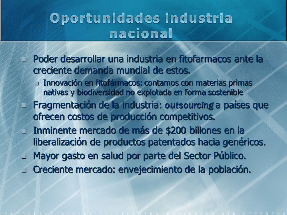Oportunidades industria nacional