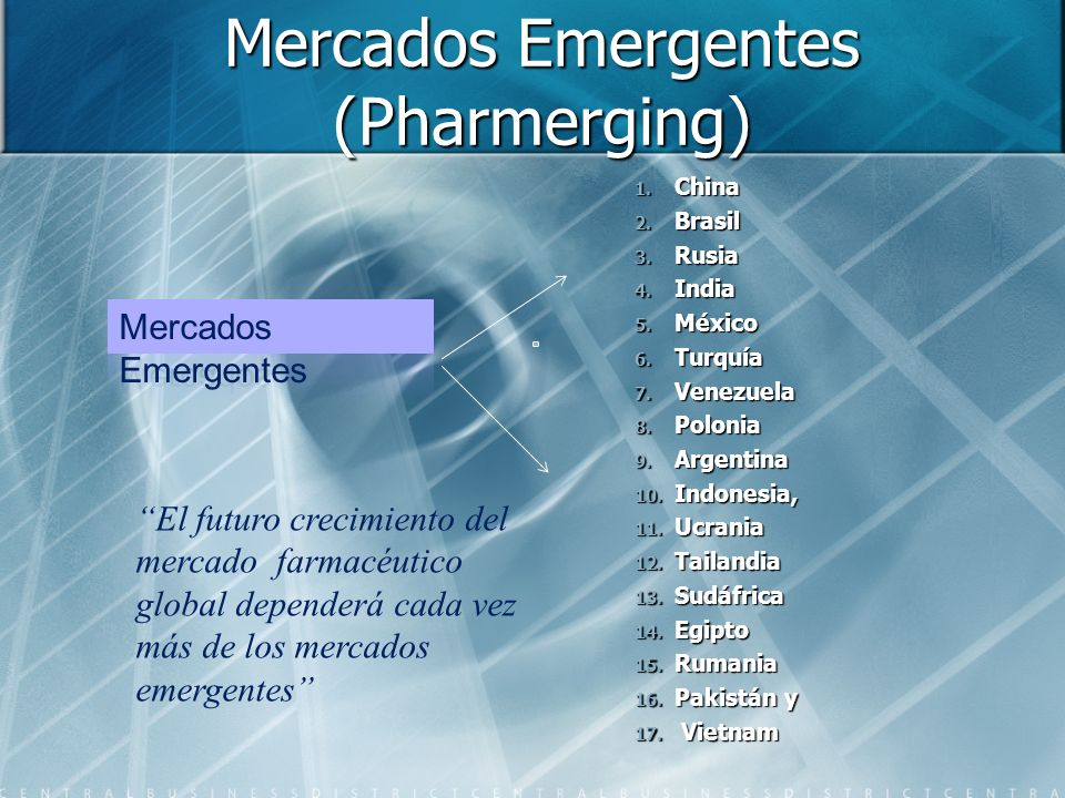 Mercados Emergentes (Pharmerging)
