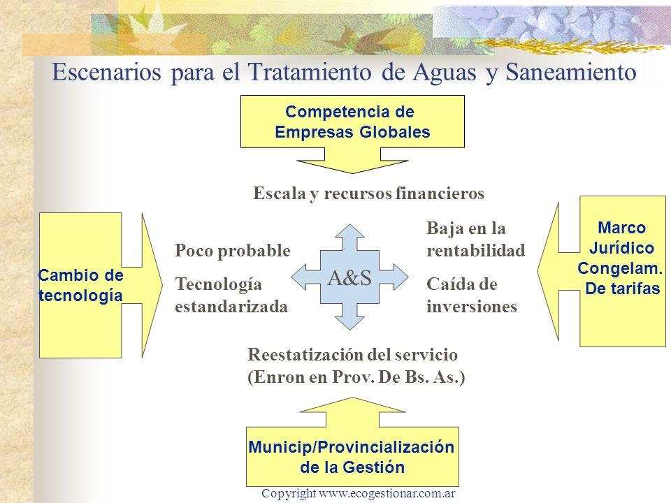 Escenarios para el Tratamiento de Aguas y Saneamiento