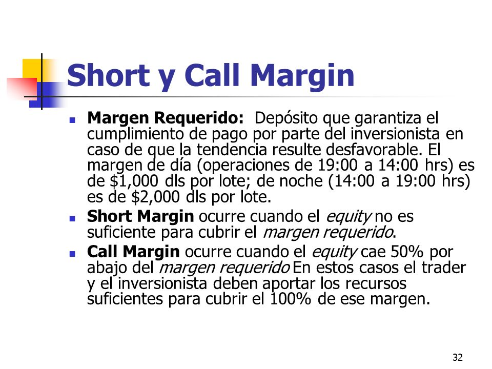 Short y Call Margin