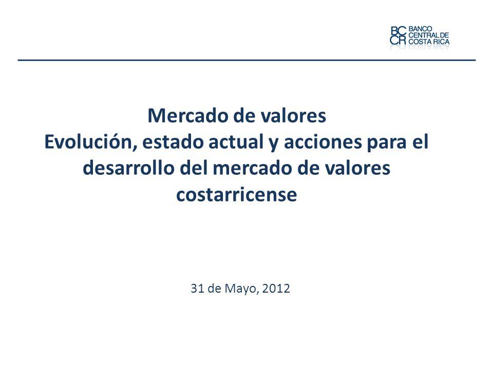 Mercado de valores Evolución, estado actual y acciones para el desarrollo del mercado de valores costarricense