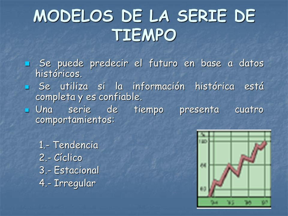 MODELOS DE LA SERIE DE TIEMPO