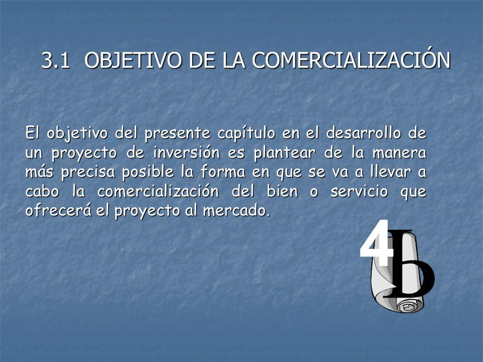 4 3.1 OBJETIVO DE LA COMERCIALIZACIÓN
