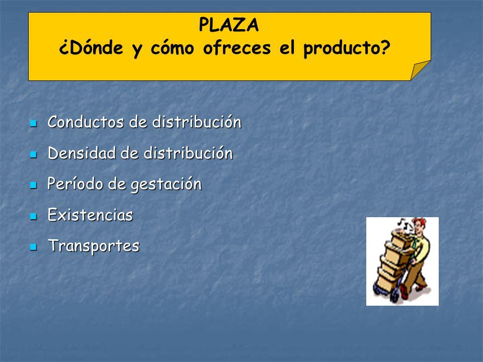 ¿Dónde y cómo ofreces el producto