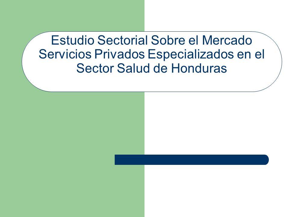 Estudio Sectorial Sobre el Mercado Servicios Privados Especializados en el Sector Salud de Honduras