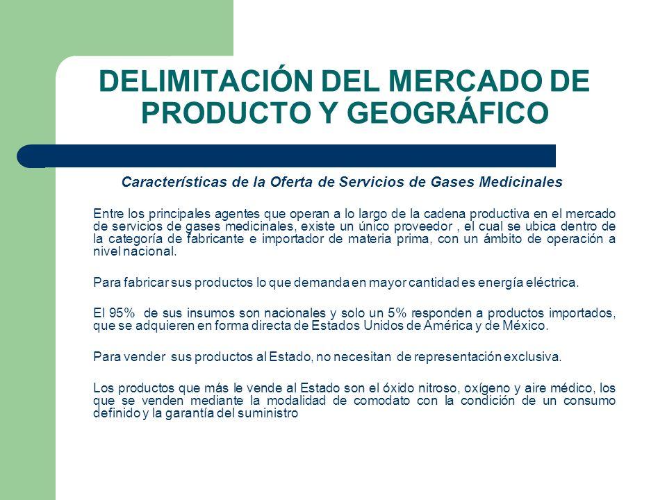 DELIMITACIÓN DEL MERCADO DE PRODUCTO Y GEOGRÁFICO